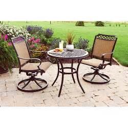 Bistro Set Outdoor Furniture by Better Homes And Gardens Paxton Place 3 Piece Outdoor