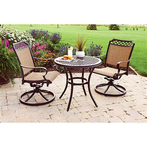 patio furniture bistro set better homes and gardens paxton place 3 outdoor