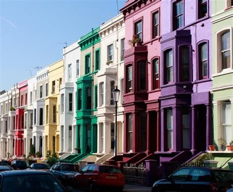 colorful hill colorful notting hill houses in notting new