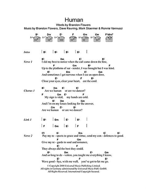 tattoo by jordin sparks lyrics and chords human noten von the killers text akkorde 102739