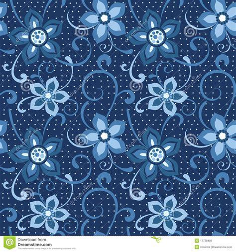 Blumenmuster Blau Nahtloses Blumenmuster Im Blau Stockfotografie Bild