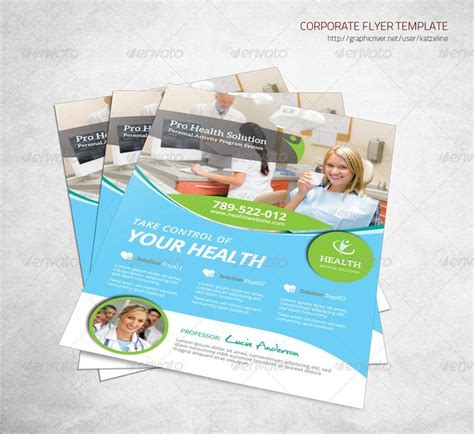creative flyer design graphicriver health insurance flyer template
