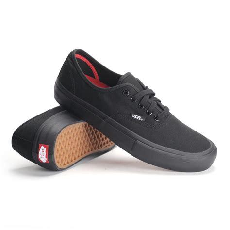 Vans Autentic Black vans authentic pro black black s skate shoes