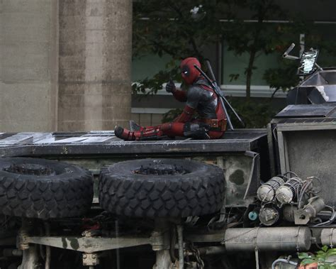 daily hive spotted on deadpool 2 set days after tragic