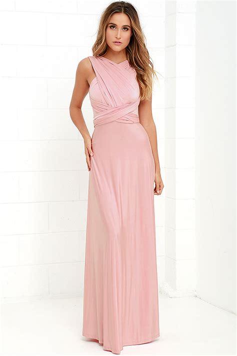 Livi Maxy Dress pretty maxi dress convertible dress blush pink dress