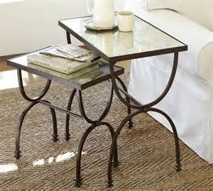 pottery barn willow coffee table willow nesting tables set of 2 pottery barn
