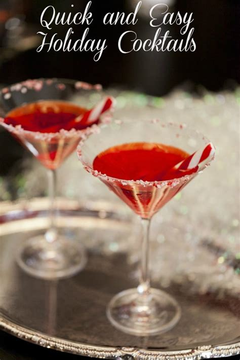 christmas cocktail recipes quick and easy holiday cocktails for festive entertaining