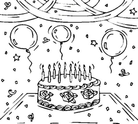 birthday decorations coloring pages decorating birthday party with balloons coloring pages