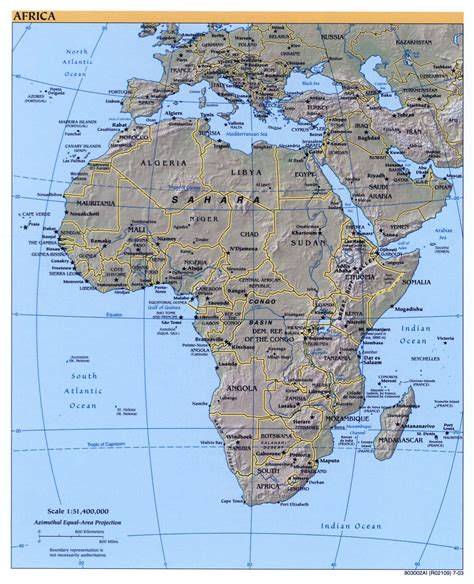 africa map 2003 large detailed political map of africa with relief