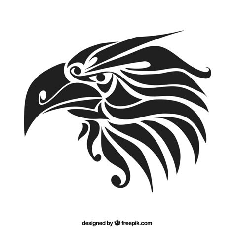 tribal tattoos vetor tribal eagle drawing