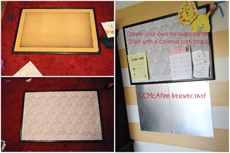 kitchen message center diy cork board diy projects and