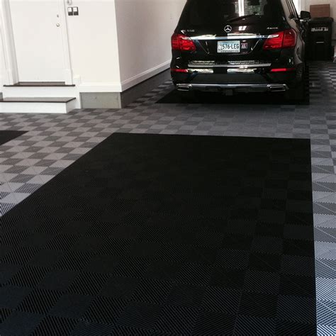 Ribbed Garage Floor Mats by Truelock Plus Ribbed Tile