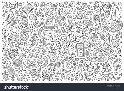 doodle how to make electricity line vector doodle stock vector 517464880