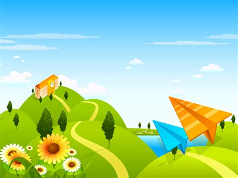wallpaper cartoon vetor vector landscape and business concept vol 02 1024x768 no