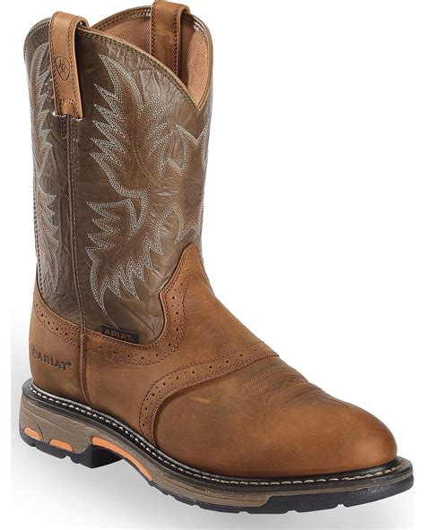 ariat work boots ariat s workhog pull on work boot 10001188 ebay