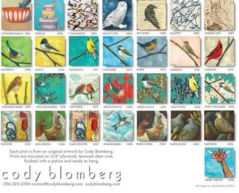 cody blomberg bird print plaque catalogue 2012