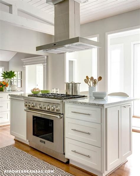 stove on kitchen island kitchen island with freestanding stove transitional