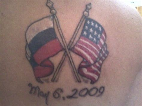 russian tattoos designs russian and american flag adoption tat