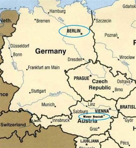 austria germany map map of austria and germany free world map