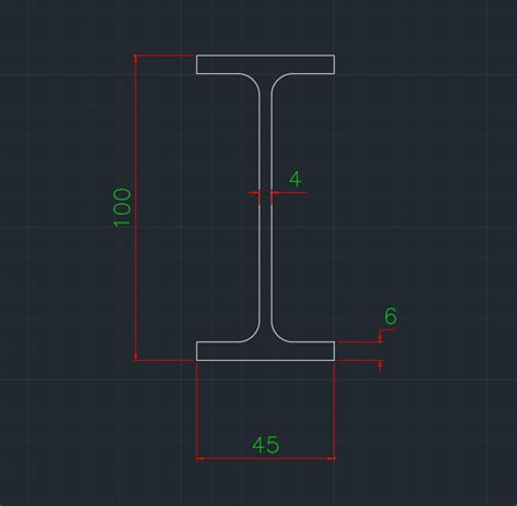 Drawing H Beam by H Beam Free Cad Block And Autocad Drawing Part 7