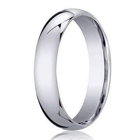 benchmark 950 platinum men s wedding ring traditional design 4mm