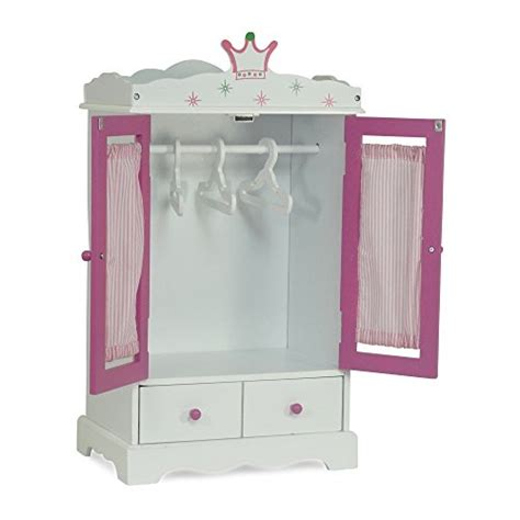 18 doll armoire wardrobe 18 inch doll wish crown storage doll armoire closet