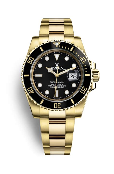 Rolex Fullgold rolex submariner date 18 ct yellow gold 116618ln
