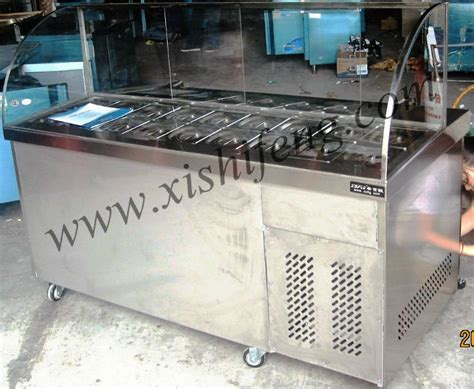 refrigerated bar top xsflg salad refrigerated counter table top salad bar