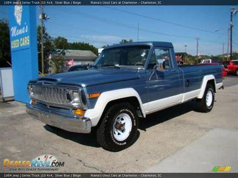 1984 jeep j series truck j10 4x4 silver blue beige photo