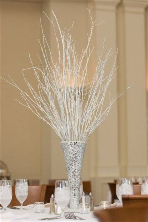 winter centerpieces and winter themed wedding table centerpiece reception ideas
