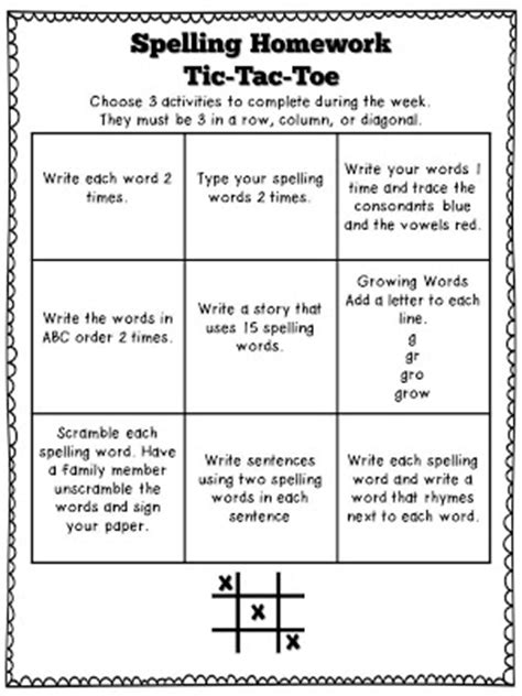 tic tac toe menu template tic tac toe template this packet is titled quot choice boards