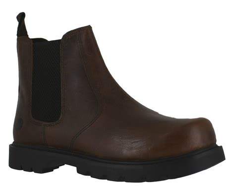 oaktrak rocksley mens brown leather dealer pull on chelsea