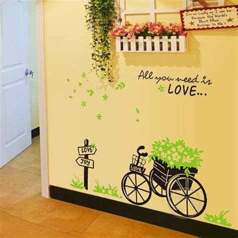 affordable wall murals cheap wall decals bike stickers bicycle wall sticker home decor diy mural picture poster