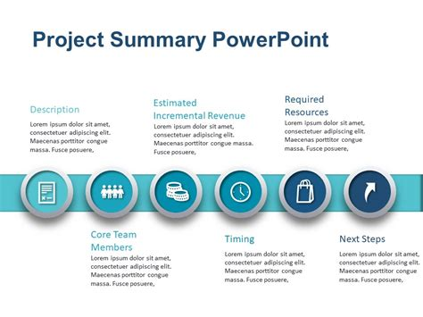 Project Summary Powerpoint Template 2 Slideuplift Project Overview Template Powerpoint