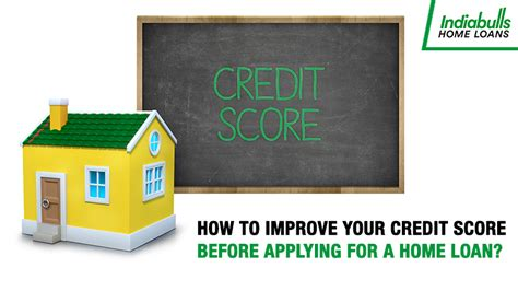 improve your credit score before applying for a home loan