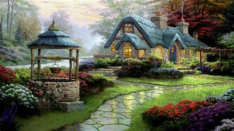 beautiful english cottage hd cool wallpaper