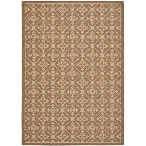 Safavieh Outdoor Rug Safavieh Courtyard Brown 6 Ft 7 In X 9 Ft 6 In Indoor Outdoor Area Rug Cy6564 22 6