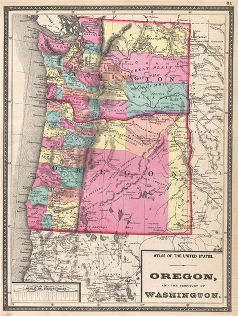 map of oregon washington new acquisitions geographicus antique maps