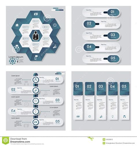 blue layout vector collection of 4 blue color template graphic or website