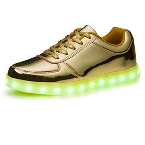 Gold Led Shoes s golden led light up shoes for adults 0 profits