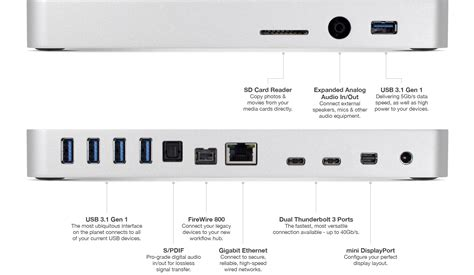 porta thunderbolt mac owc s new thunderbolt 3 dock adds 13 additional ports to
