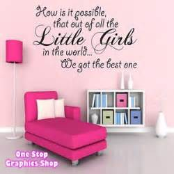 Baby Room Wall Stickers Uk 1stop graphics shop best little girl wall art quote