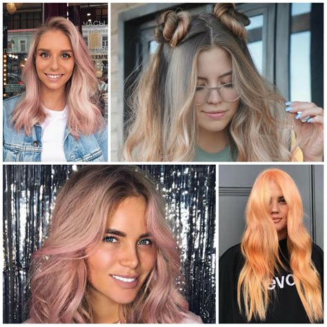 these hair trends are going to take over salons in 2018 peach hair color 2017 best hair color 2017