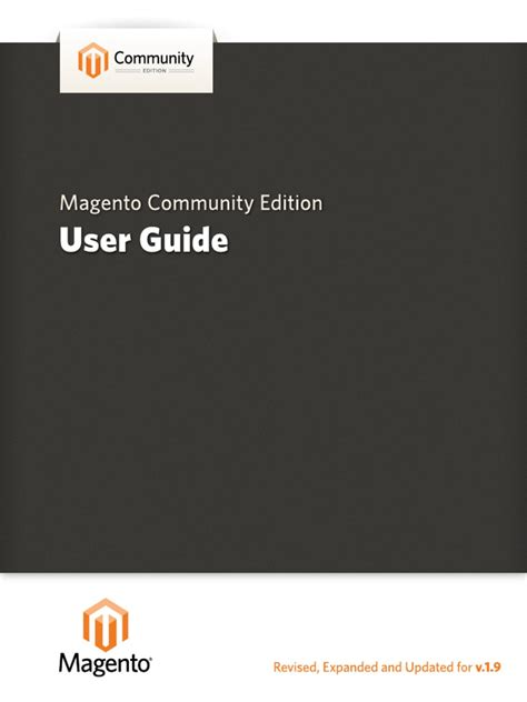 magento community edition user guide docshare tips