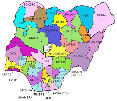 map of nigeria with states nigeria
