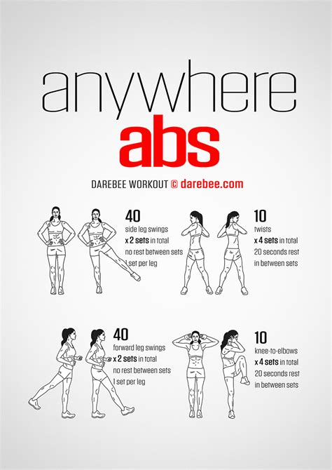 ab swing exercises anywhere abs workout