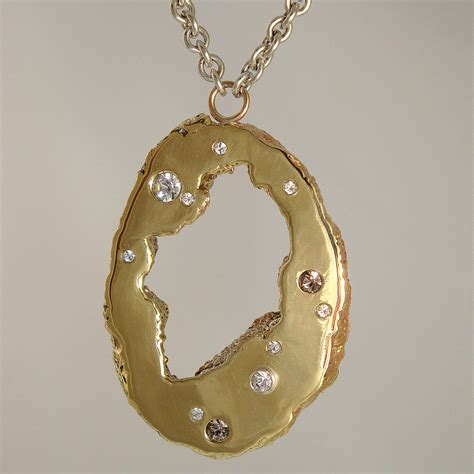 Handcrafted Custom Jewelry - geode necklace nectar jewelry handcrafted