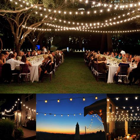 Patio Light Stringer 100 Foot G40 Outdoor Lighting Patio Globe String Lights 125 Clear Bulb Set Ebay