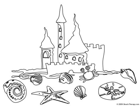 beach stuff coloring page coloring pages