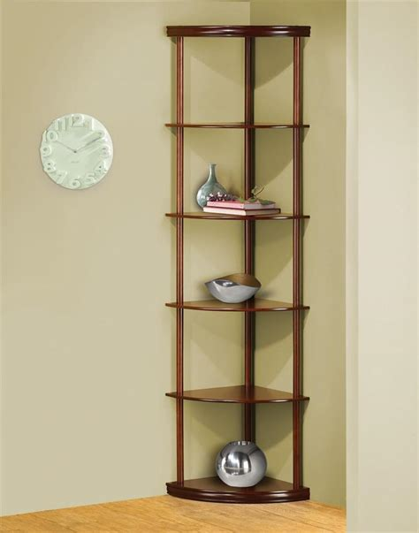 Tier Corner Shelf by Cherry Finished 6 Tier Pie Shaped Corner Shelf Etagere